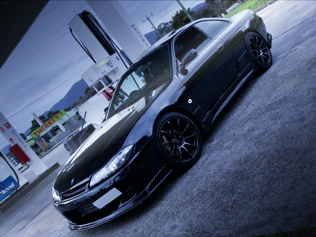 FRONT LEFT SIDE EXTERIOR OF S15 FRONT END TO S14 SILVIA.