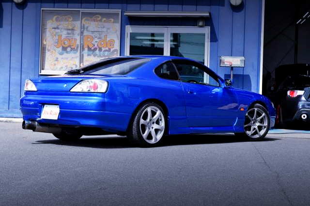 REAR EXTERIOR OF S15 SILVIA AUTECH VERSION TO BAYSIDE BLUE.