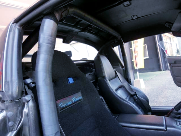 DRIVER'S BUCKET SEAT AND ROLL BAR.