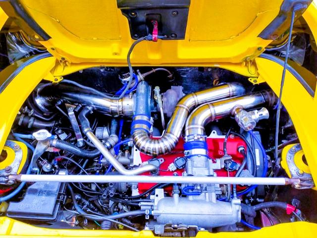 3S-GTE TURBO ENGINE.