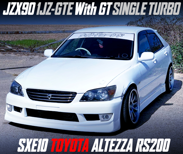 JZX90 1JZ-GTE With GT SINGLE TURBO INTO ALTEZZA RS200.
