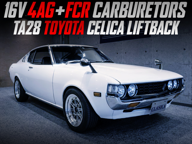 FCR CARBS ON 16-VALVE 4AGE SWAPPED TA28 CELICA LIFTBACK.