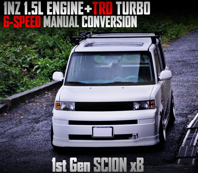 1NZ With TRD TURBO And 6MT CONVERSION TO SCION xB White.