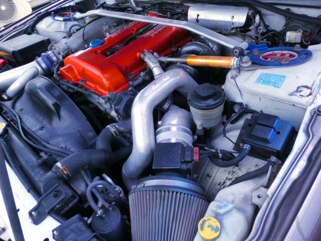 SR20DET TURBO ENGINE With STAINLESS EXHAUST MANIFOLD.