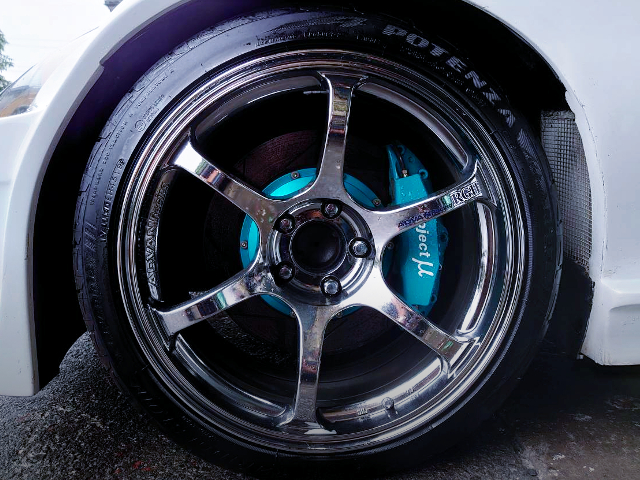PROJECT-MU NRAKE CALIPER AND ADVAN RG2 WHEEL.