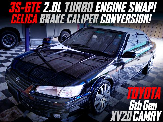 3S-GTE TURBO ENGINE SWAP AND CELICA BRAKE INTO XV20 CAMRY.