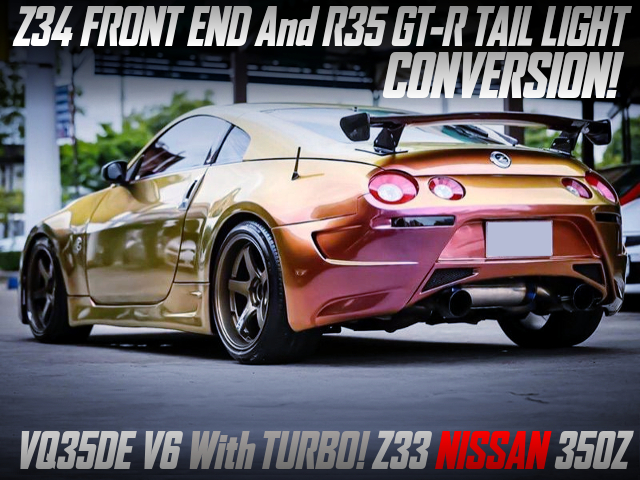 Z34 FRONT END AND R35 GT-R TAIL LIGHT CONVERSION TO Z33 NISSAN 350Z.