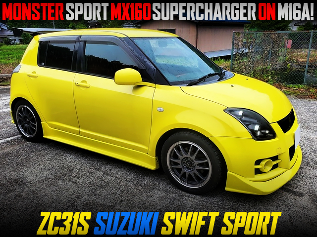 MONSTER SPORT MX160 SUPERCHARGER KIT ON M16A INTO ZC31S SUZUKI SWIFT SPORT YELLOW.
