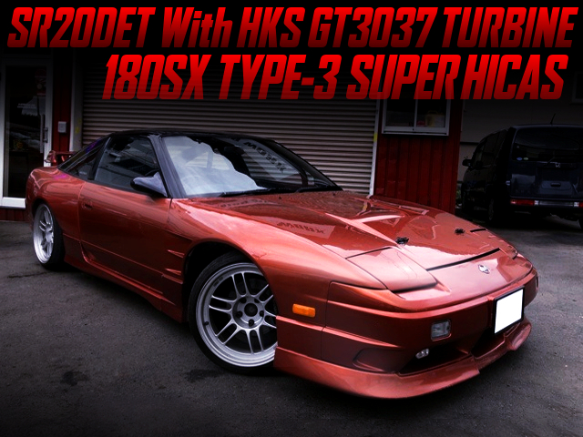 HKS GT3037 TURBOCHARGED 180SX TYPE-3 SUPER-HICAS WIDEBODY.