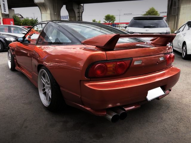 REAR EXTERIOR OF 180SX TYPE-3 SUPER-HICAS With ORANGE PAINT.
