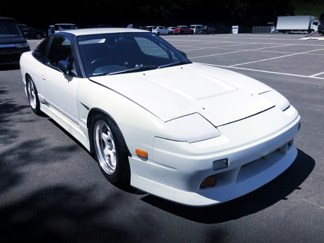 FRONT EXTERIOR OF 180SX TYPE-X TO WHITE COLOR.