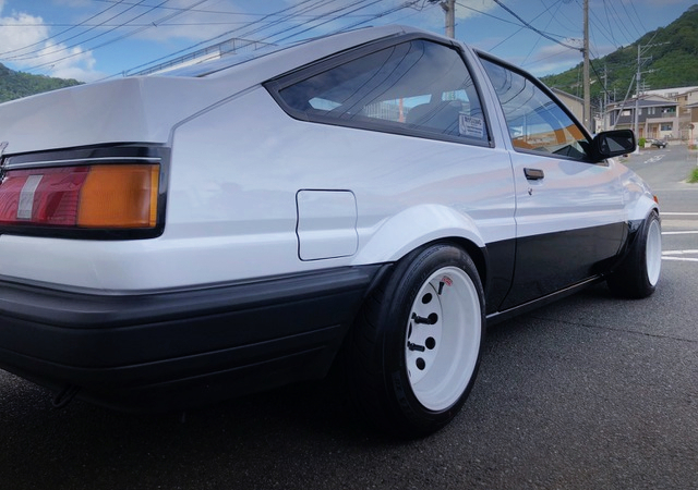 REAR-SIDE EXTERIOR OF AE85 LEVIN WIDEBODY.