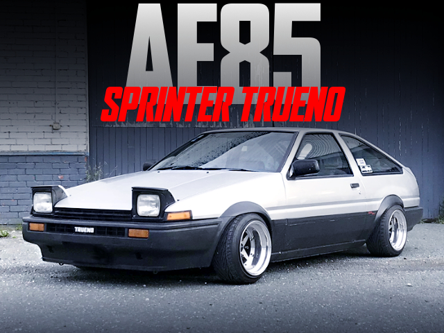 METAL FLARE ARCHES AND STANCE With AE85 SPRINTER TRUENO.