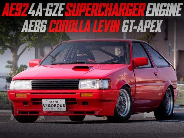 4AGZE SUPERCHARGER ENGINE SWAP AE86 LEVIN GT-APEX.