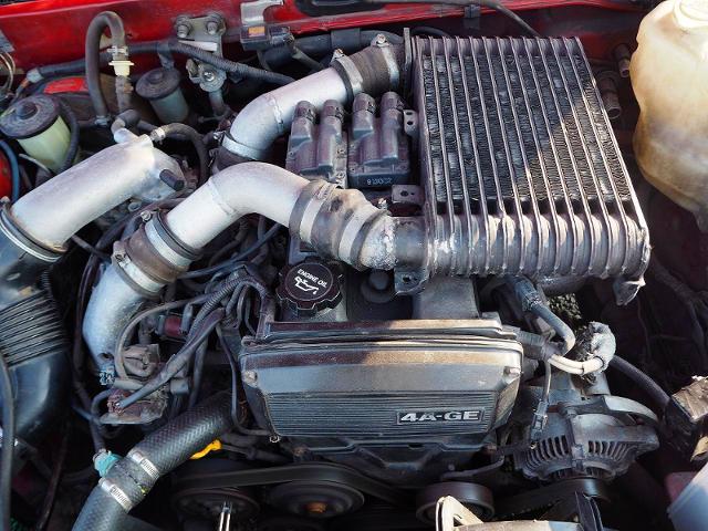 4AGZE 1.6L SUPERCHARGER ENGINE.