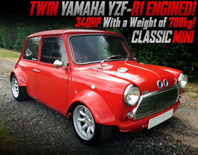 TWIN YAMAHA R1 ENGINED CLASSIC MINI.