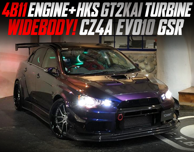HKS GT2KAI TURBINE AND WIDEBODY With CZ4A EVO10 GSR.