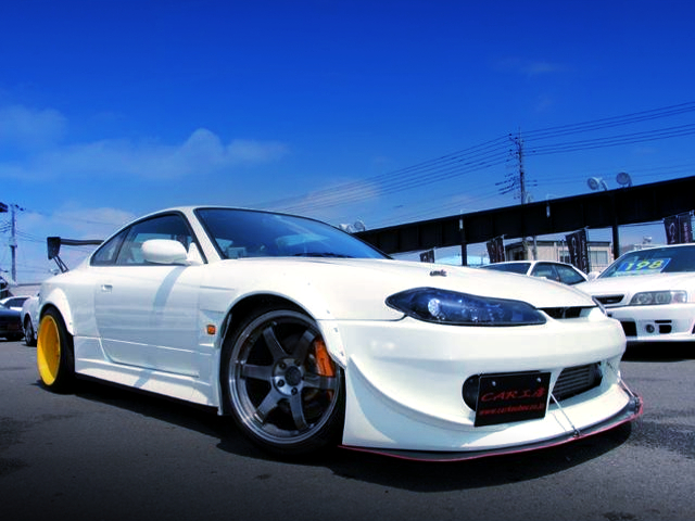 FRONT EXTERIOR OF S15 SILVIA With DOUBLE WIDEBODY.