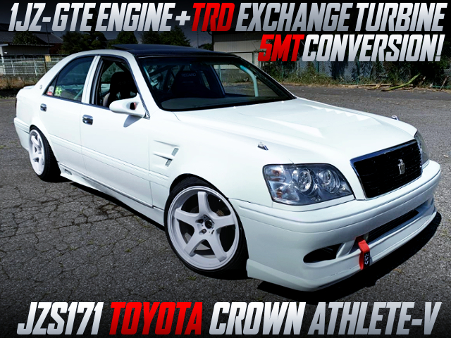 1JZ-GTE With TRD EXCHANGE TURBINE INTO JZS171 CROWN ATHLETE-V.