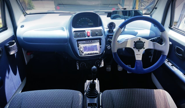 INTERIOR OF EC22S SUZUKI TWIN.