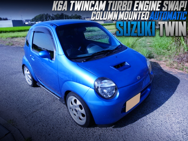 K6A TWINCAM IC TURBO ENGINE AND COLUMN MOUNTED AT With EC22S SUZUKI TWIN.