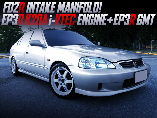 TYPE-R K20A And 6MT SWAPPED EK CIVIC 4-DOOR SILVER.