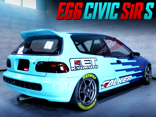 FALKEN RACING PAINT OF EG6 CIVIC SiR S With KANJO STYLE.
