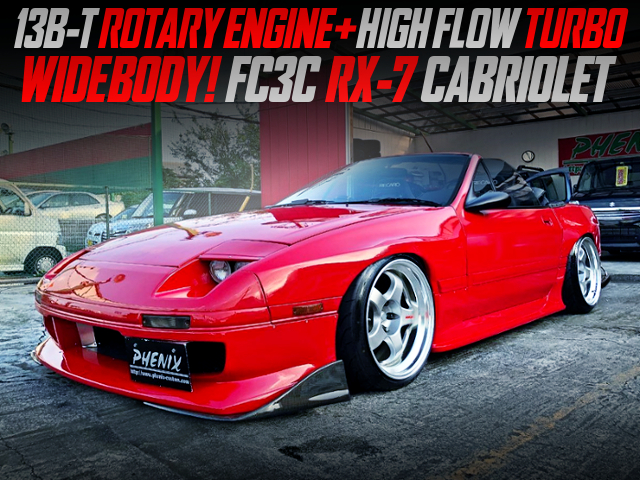 13B-T with HIGH FLOW TURBO And RE-AMEMIYA ECU INTO FC3C RX-7 CABRIOLET WIDEBODY.