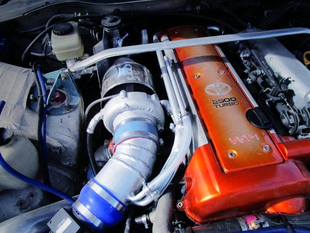HKS GT2835 TURBO ON VVT-i 1JZ-GTE ENGINE.