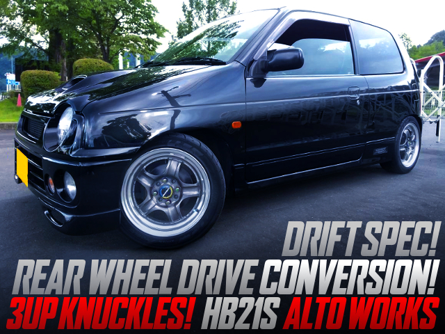 RWD CONVERSION And 3UP DRIFT KNUCKLES INTO HB21S ALTO WORKS.