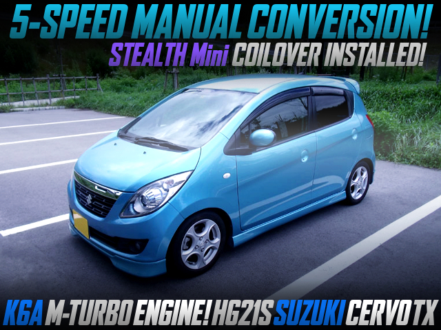 5MT CONVERSION With K6A M-TURBO MODEL HG21S SUZUKI CERVO TX.