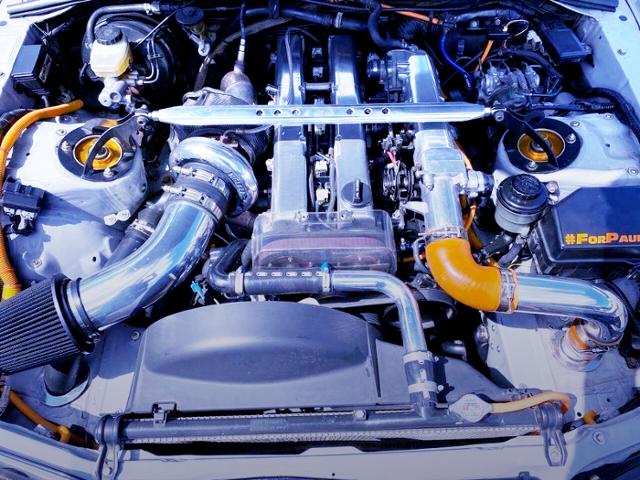 HX35 SINGLE TURBO ON 1JZ-GTE 2.5-liter.