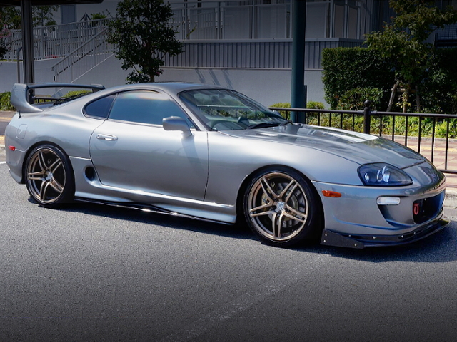 FRONT EXTERIOR OF JZA80 SUPRA RZ SILVER.