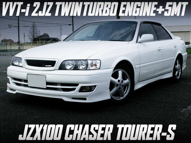 VVT-i 2JZ TWINTURBO SWAO With 5MT INTO JZX100 CHASER TOURER-S WHITE.