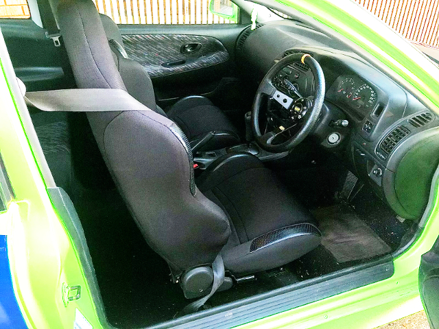INTERIOR DASHBOARD OF LANCER CE COUPE.
