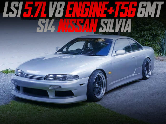 LS1 5.7-Liter V8 And 6MT SWAPPED S14 SILVIA SILVER TO METALLIC.