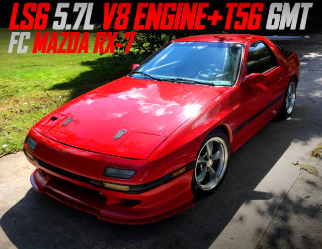 LS6 5.7-Liter V8 And 6MT SWAPPED FC MAZDA RX7.