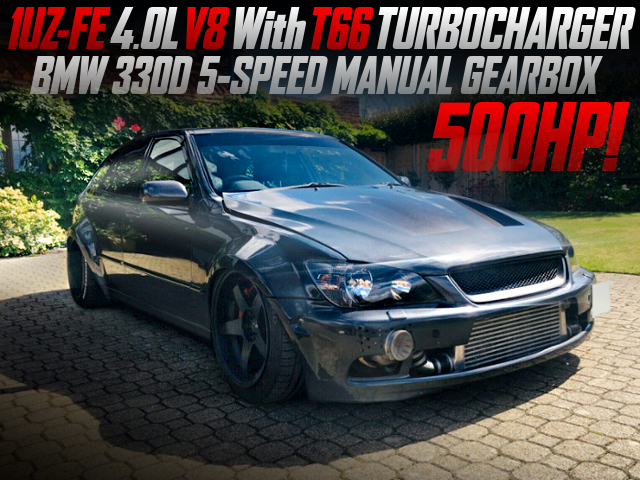 1UZ V8 With T88 TURBO AND BMW 5MT INTO LEXUS IS200 SPORT CROSS WIDEBODY.