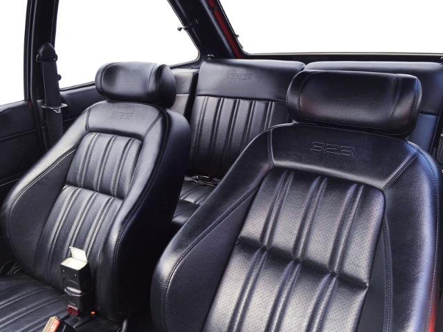 323 LOGO INSTALLED LEATHER SEATS