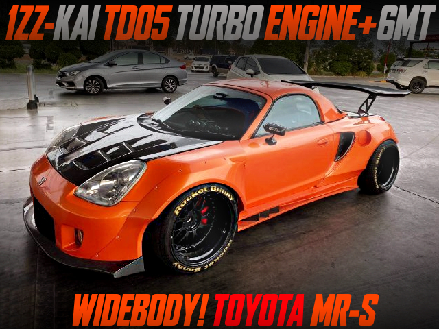 1ZZ With TD05 TURBO AND 6MT INTO ZZW30 MR-S WIDEBODY.