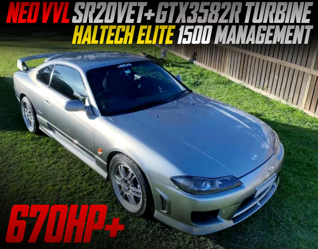NEO VVL SR20DET With GTX3582R TURBO INTO S15 200SX TYPE-S TO JDM SILVIA.