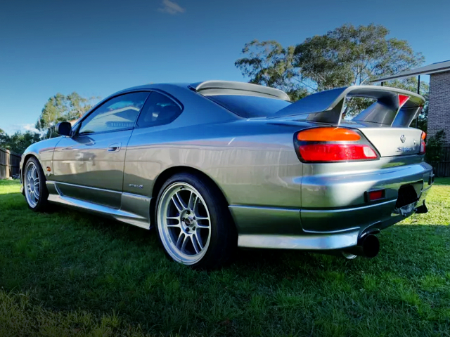 REAR EXTERIOR OF S15 200SX With JDM SILVIA IMPORT MODEL.