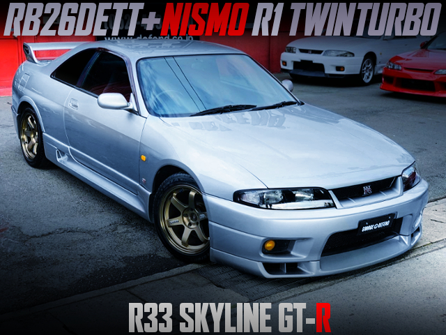 NISMO R1 TWIN TURBOCHARGED R33 SKYLINE GT-R SILVER.