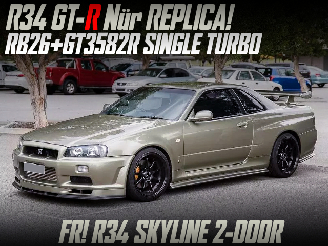 R34 GT-R NUR REPLICA BUILT OF R34 SKYLINE 2-DOOR.