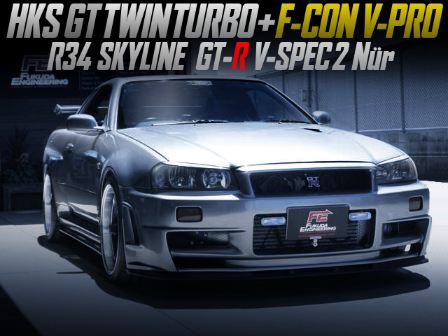HKS TWINTURBO And F-CON V-PRO INTO R34 SKYLINE GT-R V-SPEC2 Nur.
