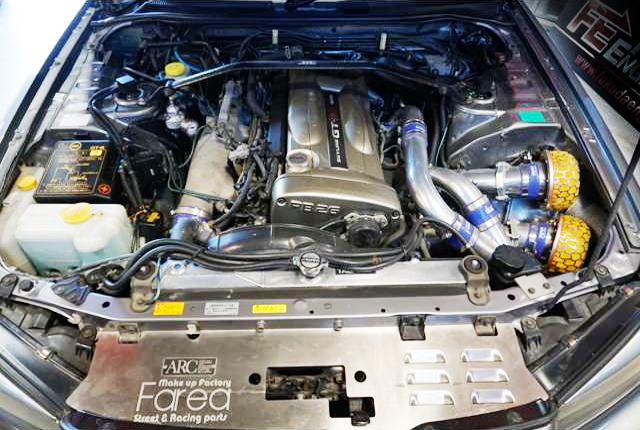 NUR RB26DETT With HKS GT TWIN TURBOCHARGED.