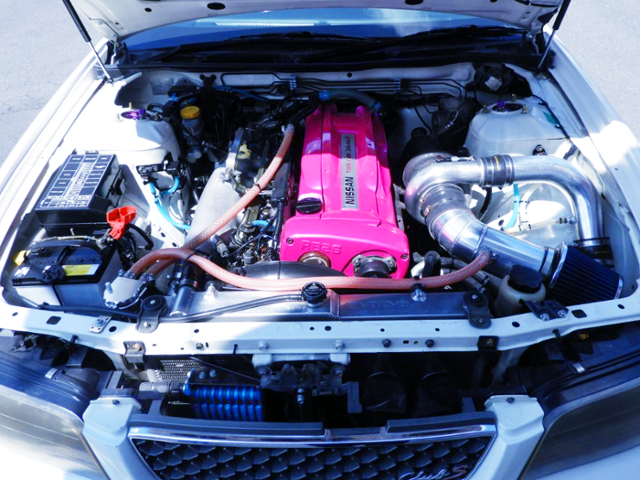 RB26 ENGINE With AFTERMARKET SINGLE TURBO.