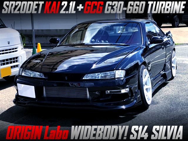 SR20DET HKS 2.1L STROKER KIT With GCG G30-660 TURBO INTO S14 SILVIA WIDEBODY.