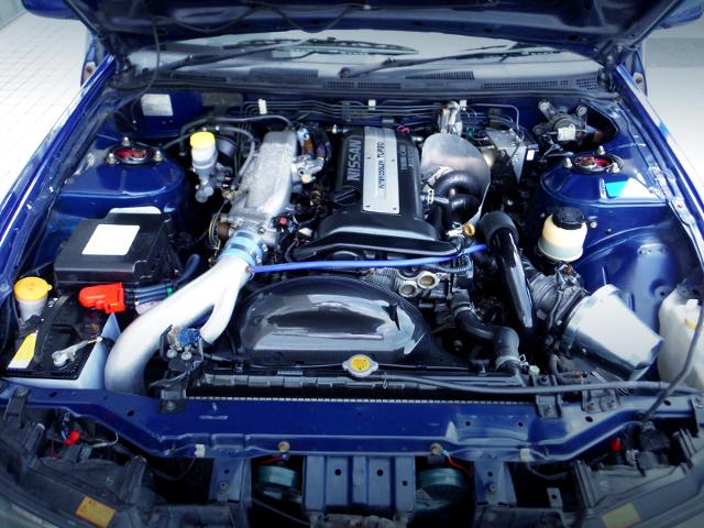 BLACK-TOP SR20DET TURBO ENGINE.