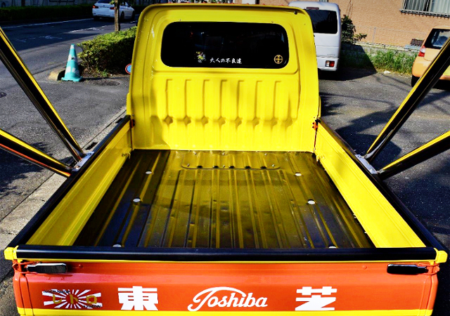 TRUCK BED SPACE OF S200P HIJET.